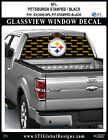 PITTSBURGH STEELERS - STAMPED BLACK Window Wrap / Truck Car Decal Sticker NFL