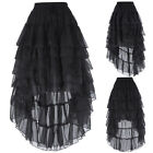 Women Dress Amelia Steampunk Waist (With Draw String) Ruffled Chiffon Skirts