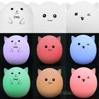 Silicone Animal Cute Pet Light Colorful LED Night Light Baby Kid Bedroom Lamp