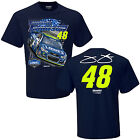 2017 JIMMIE JOHNSON #48 LOWES SPOILER NAVY BLUE SHORT SLEEVE TEE SHIRT
