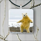POLAR BEAR DANCING PENDANT NECKLACE 3 SIZES CHOICE -fbh5Z