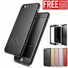 New Hybrid 360° Full Shockproof Hard Case +Tempered Glass For iPhone 6 6s 7 Plus