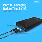Lumsing 10000mAh Ultrathin USB-C Power Bank Quick Charge 3.0 Portable Charger