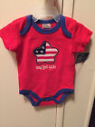 """NWT  """"MY FIRST 4TH""""  4TH OF JULY ONE PIECE BODYSUIT, ONSIE, SIZE 0-3, 3-6"""