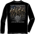 Erazor Bits Apparel Long Sleeve T-Shirt US ARMY Brotherhood A Few Became Brother