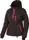Women's Pulse Black Heather/Electric Pink FXR Snowmobile Jacket 170212-1194_