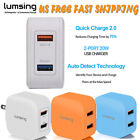 Lumsing Quick Charge 2.0 20W 2-Port Wall Charger Adapter US Plug for Cell Phone
