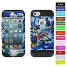 For iPhone SE, 5s, 5 Colorful Camo Deer Hybrid Rugged Armor Phone Case Cover