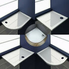 New 30mm height slimline shower enclosure rectangle square stone tray free waste