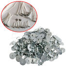 100/200Pcs Candle Metal Wick Sustainer Wick Tabs Silver For Candle Making Gift