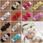 Hot Baby Kids Girls Hair Band Sequined Bow Headband Turban Knot Hair Accessories