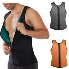 Mens Cool Colorful Zip Waist Cincher Latex Rubber Blend Corset Sports Shapewear