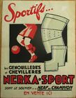 French Football 1930 Advertising Poster 3-PIECE SET-Original Art, Proof & Poster
