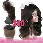 360 Lace Band Frontal Closure Virgin Human Hair Pre Plucked With Baby Hair BS284