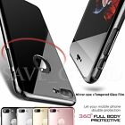 Jet Black Ultar thin For iPhone 7 6 Case Shockproof Mirror Hard Tempered Glass