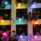 Auto-On Color Changing Outdoor Solar Garden String Lights 20-Count
