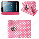 Leather 360 Rotating Smart Stand Case Cover For APPLE iPad2/3/4 Air1/2 Mini1/2/3 <br/> AUTO SLEEP/WAKE ✔ 1ST CLASS POST✔ ALL NEW DESIGNS