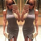 Women Slim Bodycon Bandage Stretch Irregular Evening Party Cocktail Mini Dress