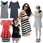 Women's Casual Stripe One-piece Dress Vest Dress Maternity Dress TXCL
