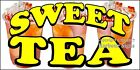 (CHOOSE YOUR SIZE) Sweet Tea DECAL Food Truck Vinyl Sign Concession