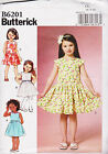 Butterick 6201 sewing Pattern Toddler 2-8 Girls Dress dropped or regular wai