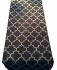 TABLE RUNNER-made in PERSIA  charcoal moroccan tile quatrefoil lined wedding