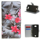 Wallet Leather Stand Flip Magnet Card Case Cover For Many Smart Phone flower t19