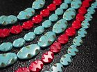 "14x19mm,15x20mm,20x35mm Oval wave Howlite Turquoise  Loose Beads 16"" / 12pcs"