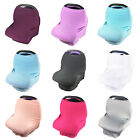 Solid Color Multi-Use Stretchy Baby Car Seat Cover Canopy Nursing Cover