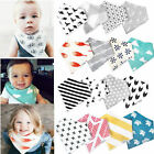 4Pcs Infant Baby Kids Burp Feeding Saliva Towel Dribble Triangle Bandana Bibs