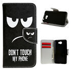 For Huawei Phone PU Leather Wallet Stand Flip Interesting Cute Cover Case W36