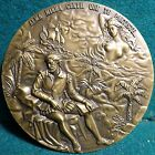 NUDE WOMAN - MUSE, POET CAMÕES, CARAVEL / CAMÕES & WOMAN 90mm 1980 BRONZE MEDAL