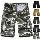 Mens Combat Cargo ARMY Pants COTTON Military Camouflage Shorts Work Trousers New
