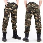 Men Casual Military Cargo Camouflage Camo Combat Pants Army Cotton Long Trousers