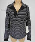 NEW LULULEMON Base Runner 1/2 Half Zip Top 10 Parallel stripe White Black NWT