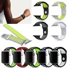 Replacement Soft Silicone Sport Bands Bracelet Strap For Apple Watch 38mm 42mm