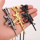 New Popular Casting Stainless Steel Sniper Rrifle Pendant Necklace Men's Gifts