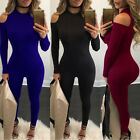 Women's Long Sleeve Bodycon Playsuit Clubwear Party Jumpsuit Rompers Trousers
