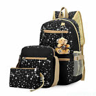 3 x Fashion Women Girls Travel Canvas Rucksack Backpack Tote School Shoulder Bag New with tags