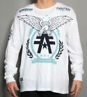NEW MENS AFFLICTION AMERICAN FIGHTER TRAINING DIVISION WHITE THERMAL SHIRT