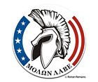 Molon Labe Decal Gun Rights 2nd Amendment 2A Spartan Gloss Vinyl Sticker H1G