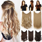 Hidden Invisible Wire Hairpiece Secret Wavy Straight Hair Extensions Headband T2