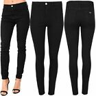 Womens Ladies Plain Pants Stretchy Slim Skinny Fit Pants Trousers Denim Jeans