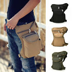 Men Canvas Hip Leg Bag Motorcycle Rider Adjustable Belt Waist Bag Fanny Pack HOT