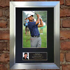 TIGER WOODS Mounted Signed Photo Reproduction Autograph Print A4 49
