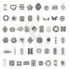 10-500pcs Tibetan Silver Spacer Loose Charm Beads Jewelry Findings 50 Style HC