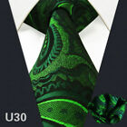 Classic Mens Tie Set 100% Silk Jacquard Woven Necktie Pocket Square For Men New
