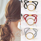 Round crystal alloy hair circle rope rubber fashion Women band Ponytail Holder