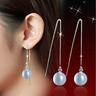 Amazing Ladies Cat's Eye Long Dangle 925 Sterling Silver Earrings Jewelry A1252