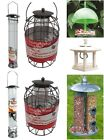 HANGING WILD BIRD FEEDER FEEDING OUTDOOR GARDEN - SEED, PEANUT, SUET FAT BALL